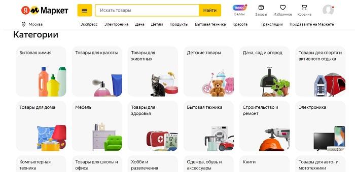 Товары на Яндекс Маркет